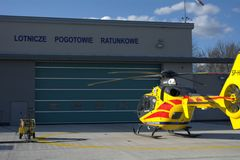 Air ambulance station Stock Photo