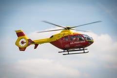 Air Ambulance. Thames Valley and Chilterns Air Ambulance Trust. Eurocopter EC135. Seen at Abingdon Air Show UK May 4th 2014 Stock Photos