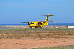 Air Ambulance - Emergency Aircraft Plan Flight Stock Image