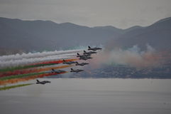 Air arrows tricolor Royalty Free Stock Photos