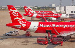 Air Asia Foto de Stock Royalty Free