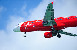 Air Asia A320-216 Photos libres de droits
