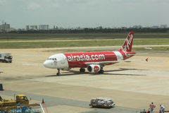 Air Asia aircraft landed Royalty Free Stock Images