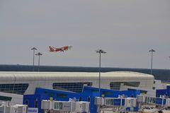 Air Asia décollent Image stock