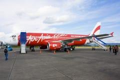 Air Asia en Yogyakarta Imágenes de archivo libres de regalías