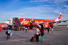 Air Asia plane Royalty Free Stock Photos