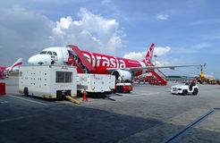 Air Asia Plane Royalty Free Stock Photo