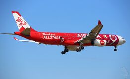 Air Asia plane in sky