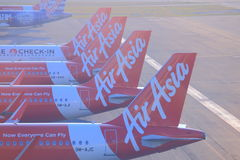 Air Asia planes Royalty Free Stock Photos