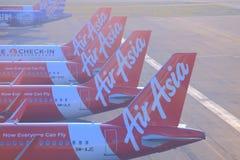 Air Asia planes Royalty Free Stock Photos