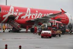 Air Asia, première compagnie aérienne du coût bas de l'Asie. Image libre de droits