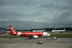 Air Asia, Singapura Fotos de Stock Royalty Free