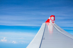 Air Asia Airplane Wing Royalty Free Stock Photo