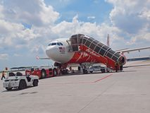 Air Asia X. At Kuala Lumpur International Airport, Low Cost Carrier Terminal Stock Photos