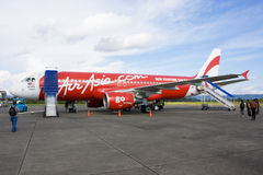 Air Asia at Yogyakarta Royalty Free Stock Images