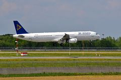 Air Astana Airbus A321 Photographie stock libre de droits