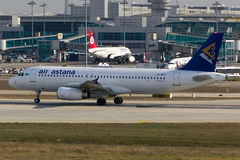 Air Astana Airbus A320 Plane Stock Photos