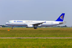 Air Astana Airbus A321 Stock Images
