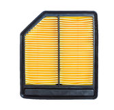 Air automobile filter. Air automobile yellow filter isolated on white background Royalty Free Stock Images