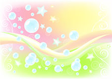 Air background with soap bubbles. Royalty Free Stock Photography