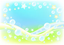 Air background with soap bubbles. Royalty Free Stock Photos