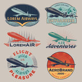 Air badges color Stock Photo