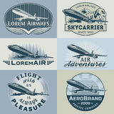 Air badges color1 Royalty Free Stock Image