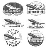 Air badges Royalty Free Stock Image