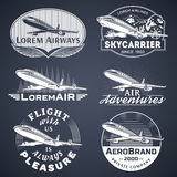 Air badges white Royalty Free Stock Images