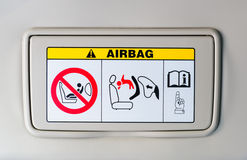 The air bag sign-how to use Stock Photos