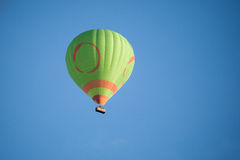 Air ballon. With basket flying in the air Stock Photo