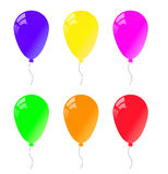 Air ballons. Set of balloons in different colors Royalty Free Stock Photo