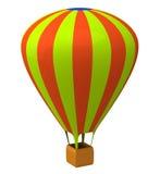 Air balloon 3d. Colorful air balloon icon 3d Royalty Free Stock Photos