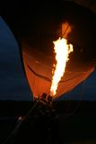 Air balloon. A detail of hot air balloon at night royalty free stock photo