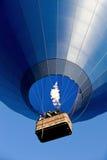 Air balloon. Blue big air balloon overhead Stock Photography