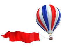Air balloon advertisement Stock Image