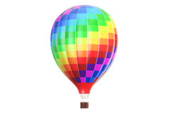 Air balloon, aerostat. 3D rendering. Isolated on white background Stock Image