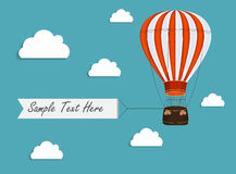 Air Balloon Background with Place for Your Text Royalty Free Stock Image