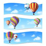 Air Balloon Banners Royalty Free Stock Images
