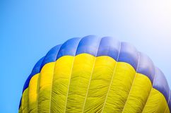 Air balloon in blue sky Stock Photography
