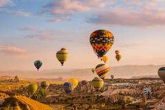 Air balloon in Cappadocia, Turkey Royalty Free Stock Photos