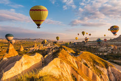 Air balloon in Cappadocia, Turkey Royalty Free Stock Images