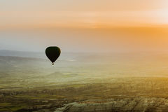 Air balloon in Cappadocia, Turkey. Hot air balloon flying over Cappadocia region, Turkey Stock Photos