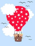 Air balloon children pattern Royalty Free Stock Image