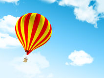 Air balloon in clouds Royalty Free Stock Photo