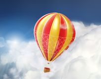 Air balloon in the clouds. Colorful air balloon in the clouds Stock Photo