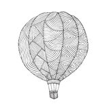 Air balloon. Coloring book page for adult Royalty Free Stock Image
