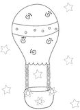 Air balloon coloring page. Useful as coloring book for kids Royalty Free Stock Photos