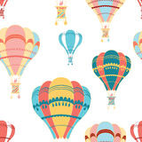 Air balloon decorative seamless pattern Stock Images