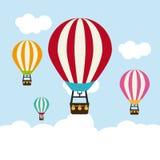 Air balloon design Royalty Free Stock Image